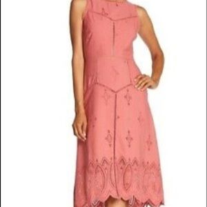 Joie Halone high low eyelet dress size 8